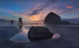 Playa Oregon del cañón Imagen de archivo libre de regalías