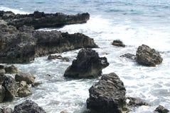 Playa orilla Mar de la costa Imagen de archivo libre de regalías
