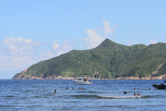 Playa pálida del estaño del jamón en Hong-Kong Imágenes de archivo libres de regalías