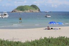 Playa pálida del estaño del jamón en Hong-Kong Foto de archivo libre de regalías