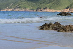 Playa pálida del estaño del jamón en Hong-Kong Fotos de archivo libres de regalías