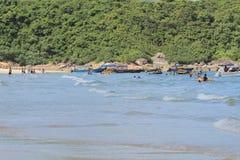 Playa pálida del estaño del jamón en Hong-Kong Imagen de archivo