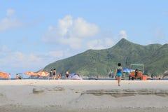 Playa pálida del estaño del jamón en Hong-Kong Imagenes de archivo