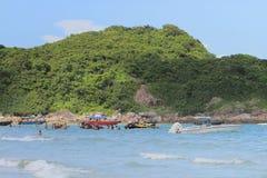 Playa pálida del estaño del jamón en Hong-Kong Imagen de archivo libre de regalías