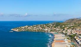 Playa pública ancha de Gaeta, Italia Imagenes de archivo