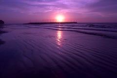 Playa púrpura Imágenes de archivo libres de regalías