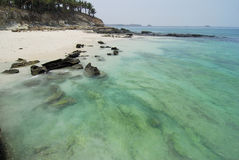 Playa pacífica fotografía de archivo libre de regalías
