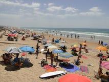 Playa palmar del EL en Andalucía, España foto de archivo libre de regalías
