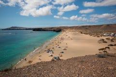 Playa Papagayo, σε Lanzarote Στοκ Εικόνα