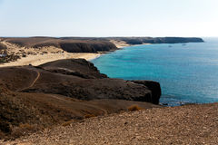 Playa Papagayo Beach ,Dunes, Playa BlancaLanzarote Stock Photography