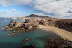 playa papagayo de Lanzarote Στοκ Εικόνες