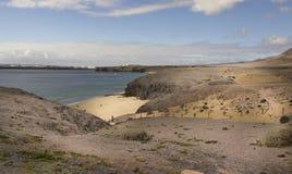 Playa Papagayo, Lanzarote, wyspy kanaryjska, Hiszpania Obrazy Royalty Free