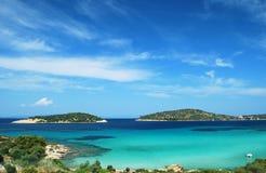Playa paradisíaca Fotos de archivo libres de regalías