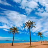 Playa Paraiso beach in Manga Mar Menor Murcia. At Spain Stock Image