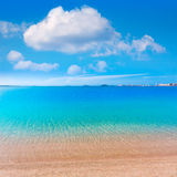 Playa Paraiso beach in Manga Mar Menor Murcia Royalty Free Stock Images