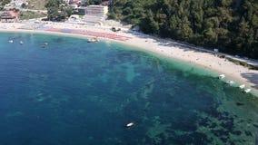 Playa Parga Grecia de Valtos almacen de metraje de vídeo