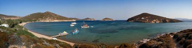 Playa Patmos de Livadi Geranou Fotografía de archivo libre de regalías
