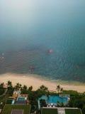 Playa pattaya Tailandia de la visión superior Fotografía de archivo libre de regalías