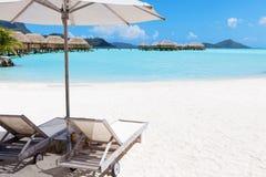 Playa perfecta Imágenes de archivo libres de regalías