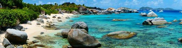 Playa perfecta de la imagen en el Caribe Fotografía de archivo libre de regalías
