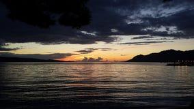 Playa perfecta del sol del mar de Croacia Foto de archivo libre de regalías