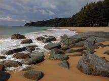 Playa phuket Tailandia de Naithon Fotografía de archivo libre de regalías