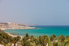 Playa Playa Barca Imagen de archivo
