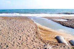 Playa pollution2 Imagen de archivo libre de regalías