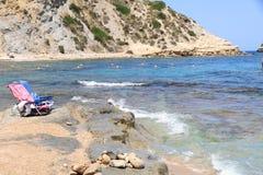 playa Portixol Javea España Foto de archivo