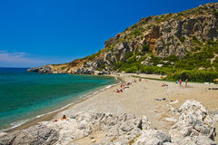 Playa Preveli, Crete Grecia foto de archivo libre de regalías