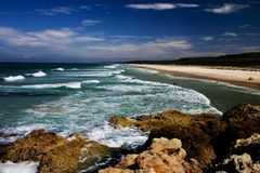 Playa principal Fotografía de archivo libre de regalías