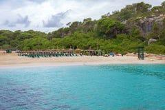 Playa privada Imagen de archivo libre de regalías