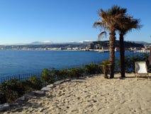 Playa privada de la configuración Fotografía de archivo