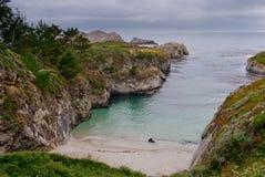 Playa privada en California foto de archivo