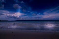 Playa privada en la isla, el andaman y nicobar del havelock Foto de archivo