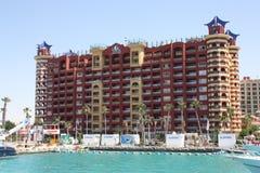 Playa, puerto deportivo del puerto, Egipto imagen de archivo