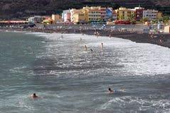 Playa, Puerto Tazacorte Imágenes de archivo libres de regalías