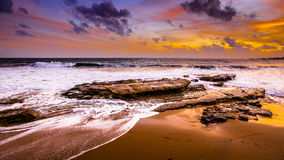 Playa, puesta del sol, Fotografía de archivo libre de regalías