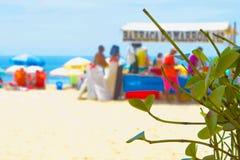 Playa Río de Ipenema del fondo de la playa imagen de archivo libre de regalías
