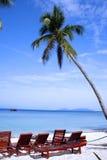 Playa reservada Imágenes de archivo libres de regalías