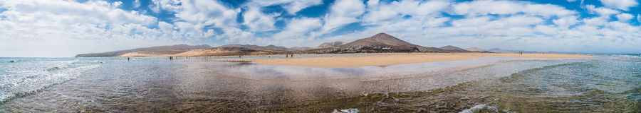Playa Risco el Paso panorama Obrazy Royalty Free