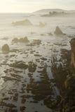 Playa rocosa 2 del shell de la costa Fotografía de archivo