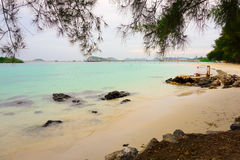 Playa rocosa Foto de archivo libre de regalías