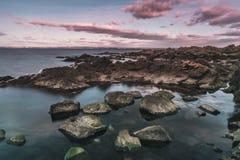 Playa rocosa de Arild Foto de archivo libre de regalías
