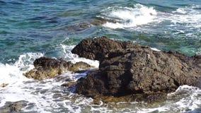 Playa rocosa de la belleza almacen de metraje de vídeo