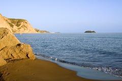Playa rocosa de Zakynthos Fotos de archivo libres de regalías