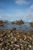 Playa rocosa en Cabo Agulhas Imágenes de archivo libres de regalías
