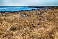 playa rocosa en el mar adriático Fotos de archivo
