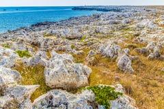 playa rocosa en el mar adriático Imagen de archivo libre de regalías