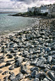 Playa rocosa en el santo Ives, Cornualles, Inglaterra Fotografía de archivo
